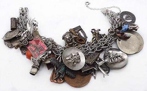 Newly Added Trebor Sterling Souvenir Charm Bracelet