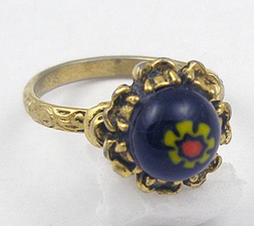 Rings - Cobalt Millefiori Glass Ring