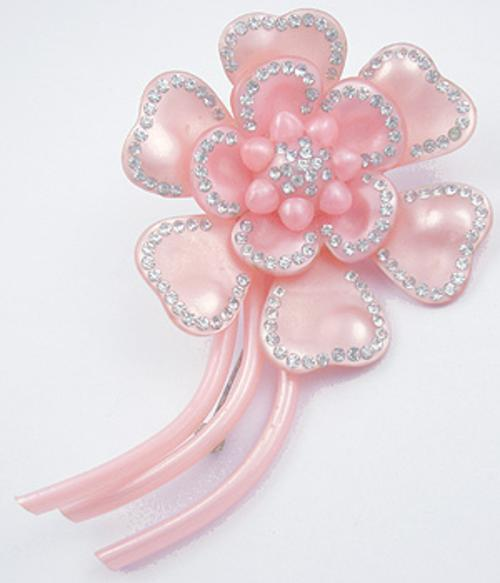 Newly Added Pink Moonglow Flower Brooch