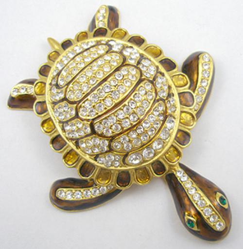 Collectible Contemporary - Enameled Turtle Brooch