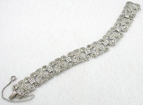Bracelets - Art Deco Sterling Marcasite Bracelet