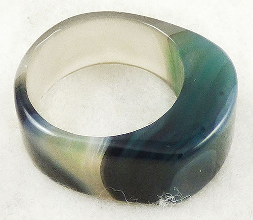 Newly Added Merano Moss Green Art Glass Ring