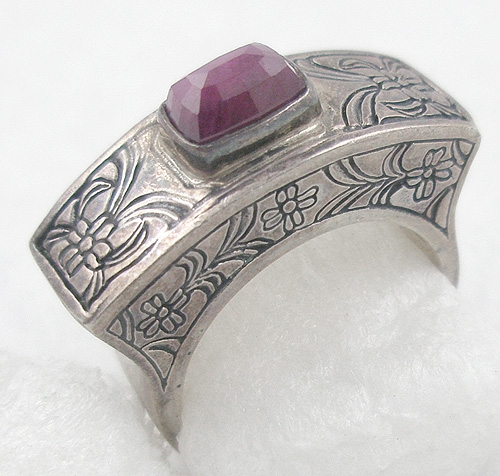 Rings - Fusion Sterling Radiant Orchid Stone Ring