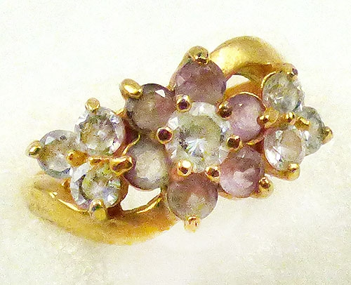 Newly Added Lindenwold Light Amethyst Flower Ring