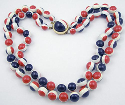 Necklaces - Patriotic Bead Necklace