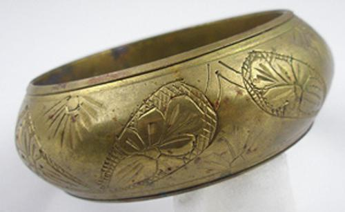 Newly Added Etched Brass Bangle