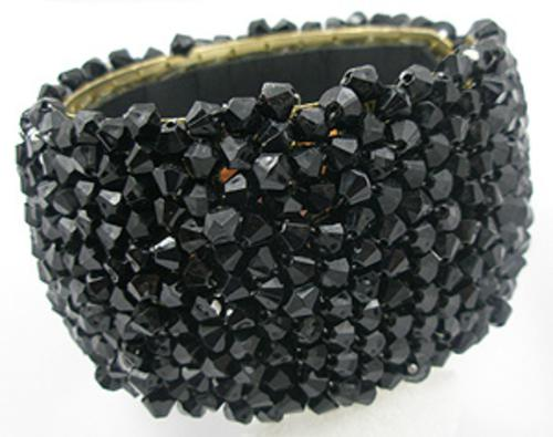 Newly Added Black Bead Hinged Bracelet