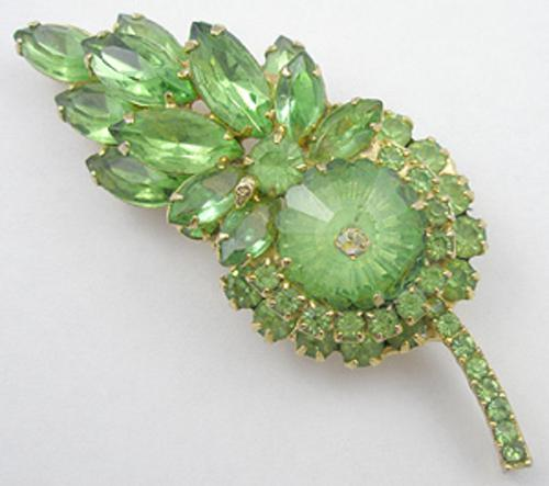 Newly Added DeLizza & Elster Green Leaf Brooch