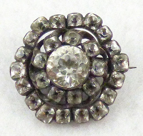 Brooches - Georgian Crystal and Paste Brooch
