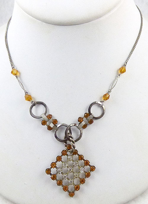 Newly Added Topaz Rhinestone Necklace
