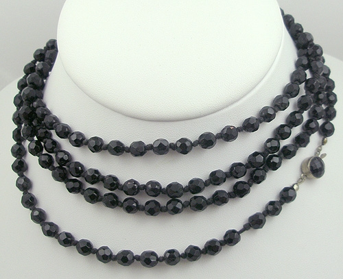 Austria - Austrian French Jet Bead Necklace