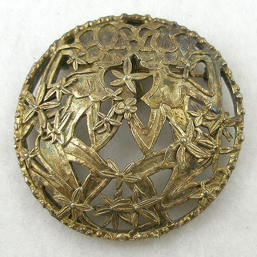 Zodiac - Sculptural Gemini Brooch/Pendant