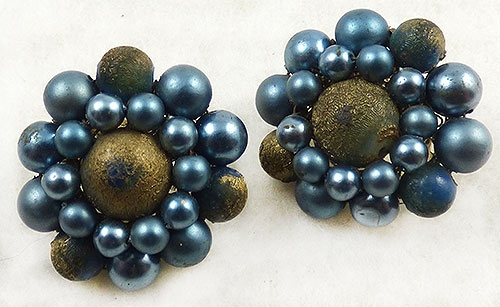 Japan - Japan Blue Faux Pearl Earrings
