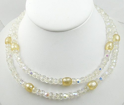 Necklaces - Alice Caviness Crystal and Pearl Necklace
