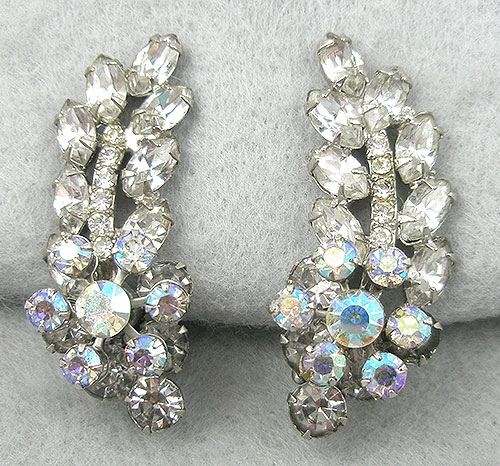 Bridal, Wedding, Special Occasion - DeLizza & Elster Rhinestone & Aurora Earrings