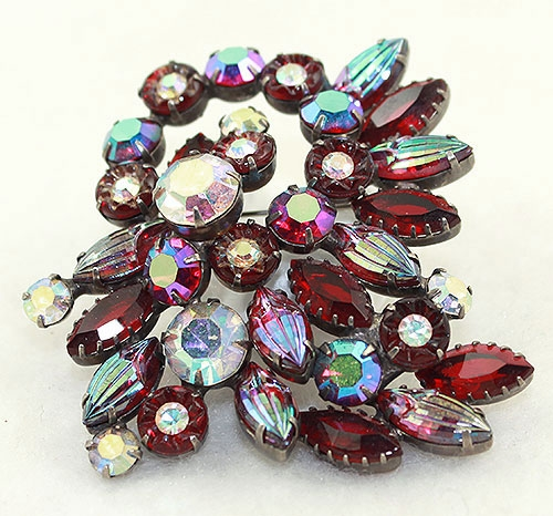 Brooches - Red Aurora Rhinestone Brooch