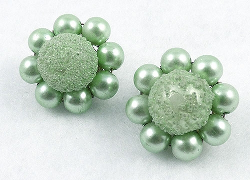 Japan - Japan Mint Green Sugar Bead Earrings