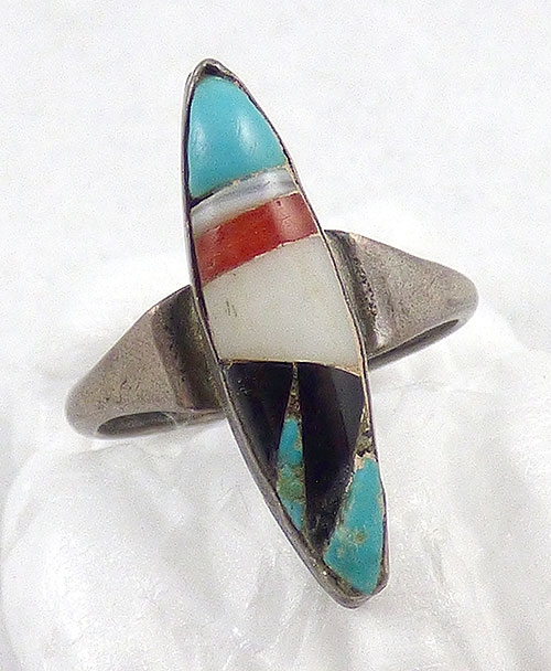 Rings - Zuni Inlaid Mosaic Stone Ring