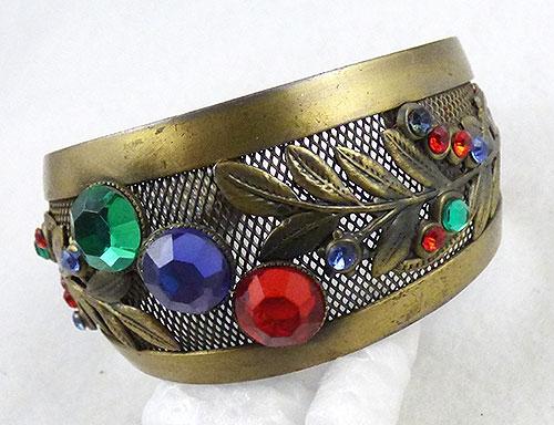 Bracelets - Brass Mesh Cuff Bracelet