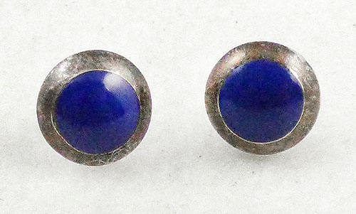 $25 or Less - Sterling Lapis Stud Earrings