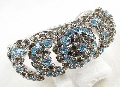 Bracelets - Warner Rhinestone Hinged Clamper Bracelet
