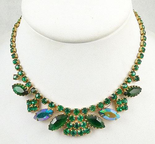 Newly Added Green Rhinestone Necklace