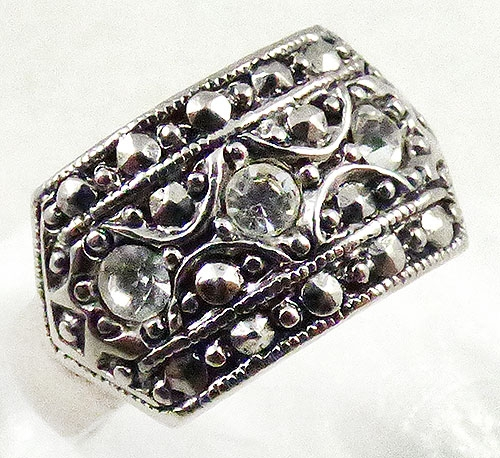 Newly Added Avon Art Deco Style Rhinestone Ring