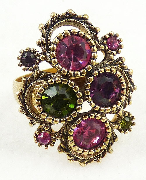 Newly Added Sarah Coventry Austrian Lights Ring