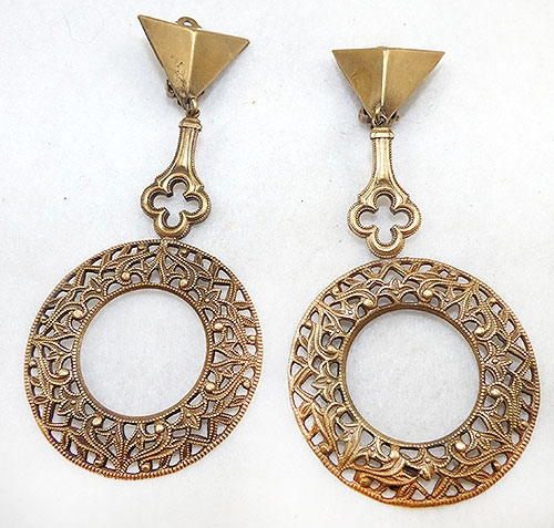 Newly Added Joseff of Hollywood Filigree Hoop Earrings