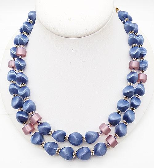 Japan - Japan Periwinkle Blue Satin Bead Necklace