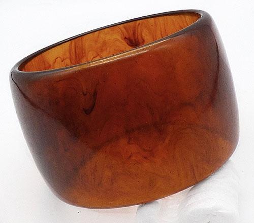 Bracelets - Iced Tea Bakelite Wide Bangle