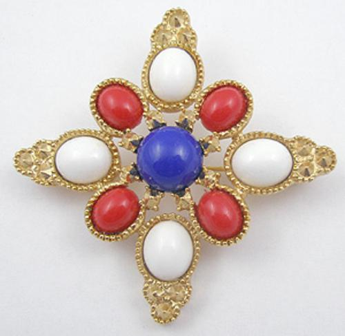 Maltese Crosses - Sarah Coventry Americana Brooch