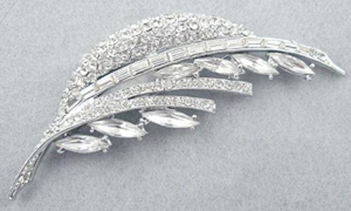 Brooches - Pell Rhinestone Leaf Brooch