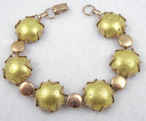 Coro/Corocraft - Coro Gold Metallic Bracelet