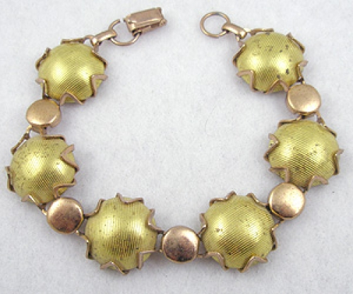 Bracelets - Coro Gold Metallic Bracelet
