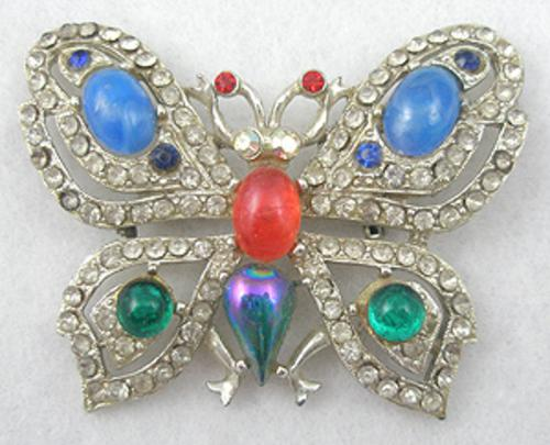Newly Added Rhinestone Butterfly Brooch