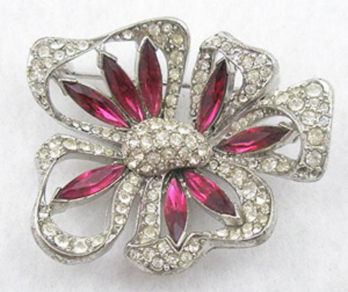 Newly Added Rhinestone Pansy Brooch