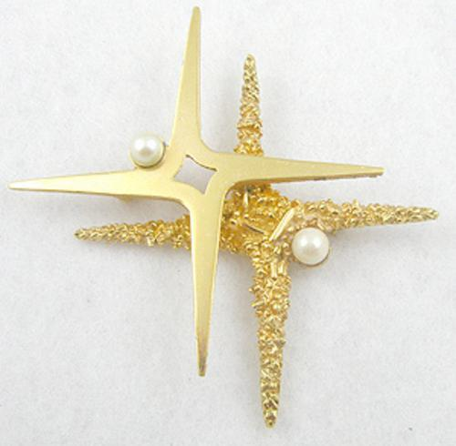 Newly Added Boucher Double Star Brooch