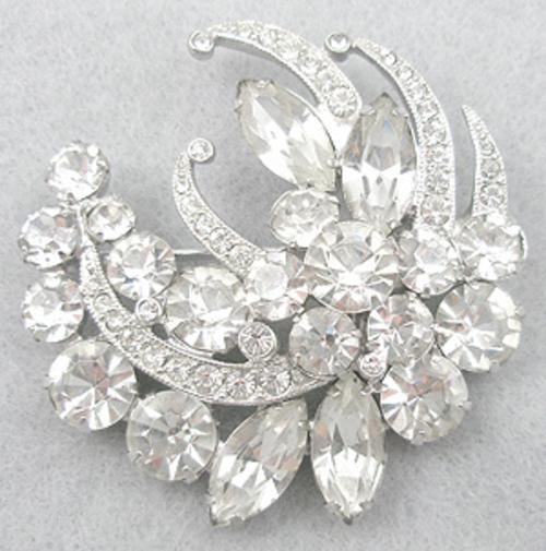Brooches - Eisenberg Ice Rhinestone Brooch