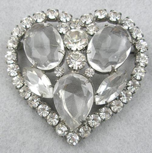 Newly Added Rhinestone Heart Brooch