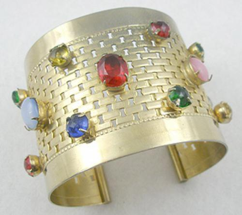 Newly Added Jeweled Wide Cuff Bracelet