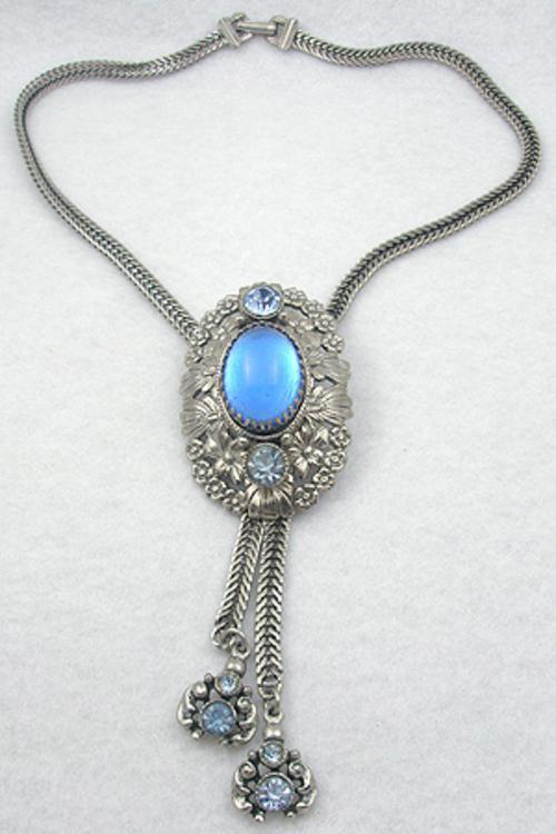 Selro/Selini - Selro Blue Cabochon Bolo Necklace