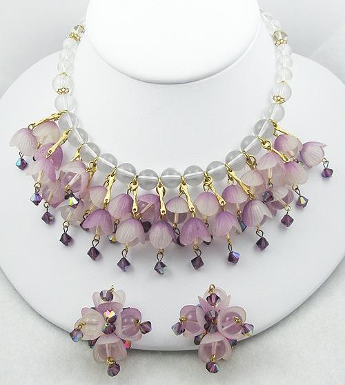 Hobé - Hobé Lilac Tulip Necklace Set