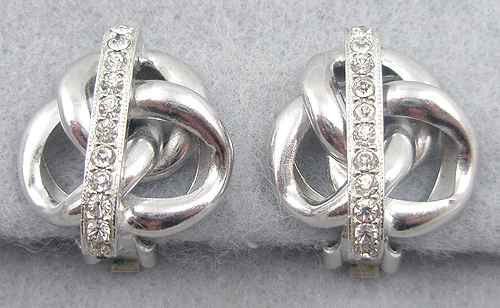 Earrings - Eisenberg Rhinestone Knot Earrings
