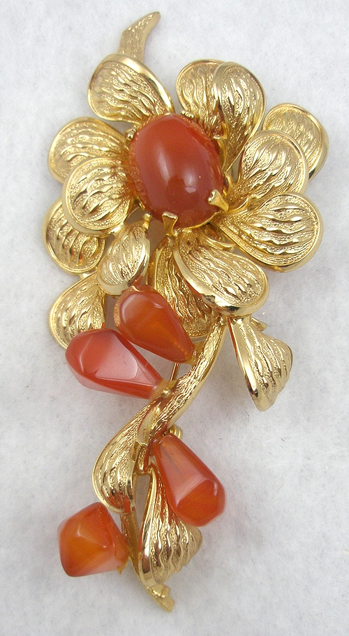 Florals - Grosse Germany 1968 Flower Brooch