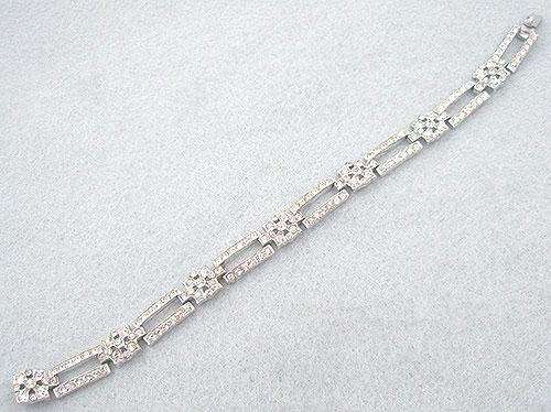 Bracelets - Trifari Art Deco Rhinestone Bracelet