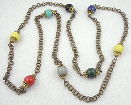 Necklaces - Colorful Beads Chain Necklace