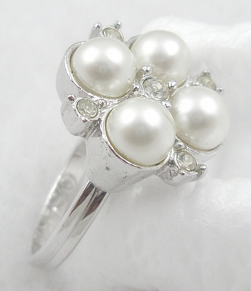 Rings - Sarah Coventry Faux Pearl Ring