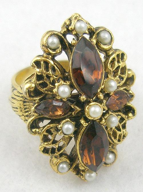 Rings - Topaz Rhinestone Navette Ring