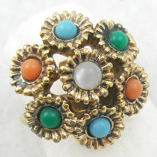 Rings - Sarah Coventry Glass Cabochon Ring
